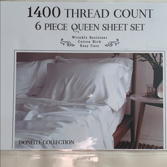 Donelle Collection Bedding Queen Sheet Set 40 Thread Count Poshmark